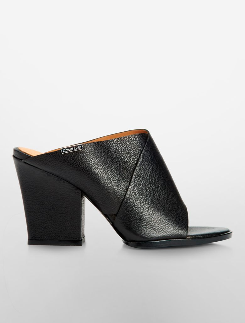calvin klein womens warner mule shoe