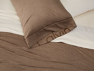 Bedding Sets Calvin Klein - Brown pattern bedding double duvet set calvin klein bamboo bedding