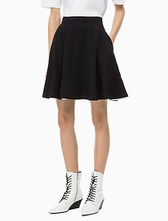 3fda363ee8a Twill Flared Skirt