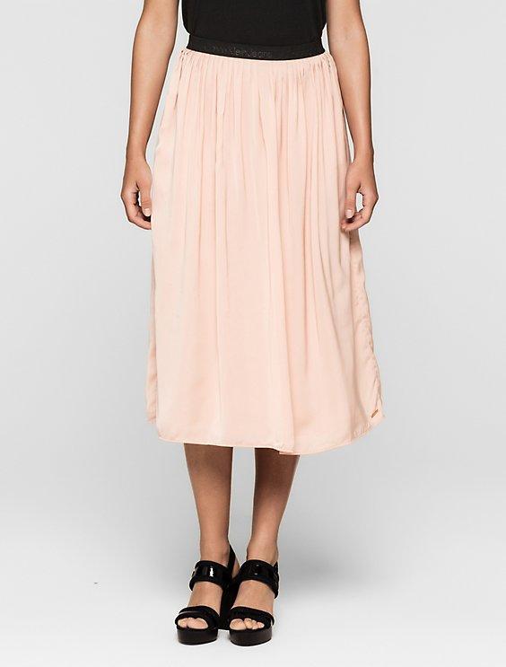 0fd5368ad7 pleated satin midi skirt | Calvin Klein