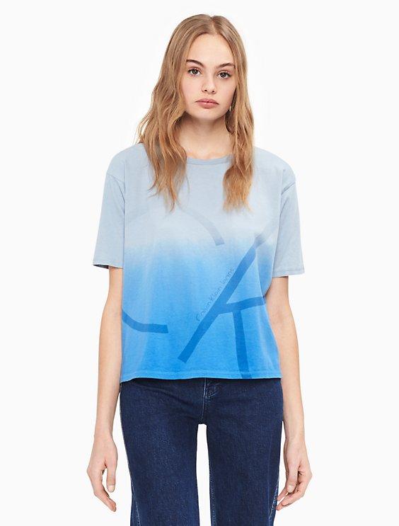 9c2cb0bd01dc57 oversized dip-dye logo cropped t-shirt | Calvin Klein