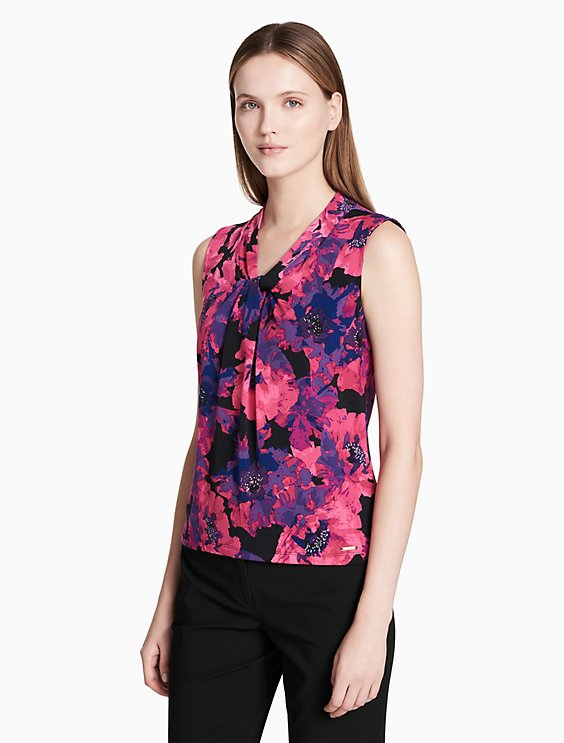 1b5504ad8caa7 floral knot neck cami top