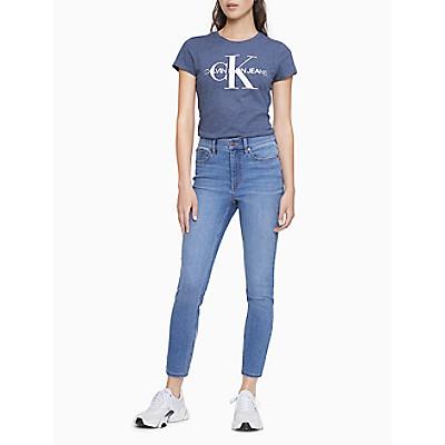 Metallic Monogram Logo Crewneck T-Shirt | Calvin KleinCalvin KleinCloseCalvin KleinShow Password