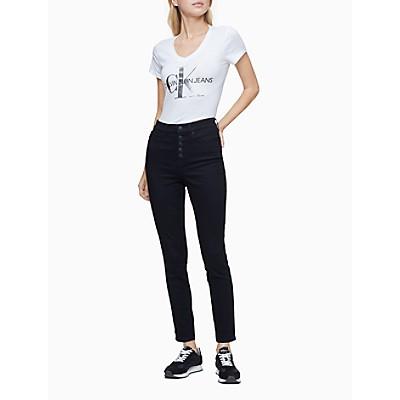 Metallic Monogram Logo V-Neck T-Shirt | Calvin KleinCalvin KleinCloseCalvin KleinShow Password