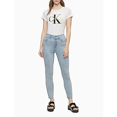 Flocked Monogram Logo Crewneck T-Shirt   Calvin KleinCalvin KleinCloseCalvin KleinShow Password