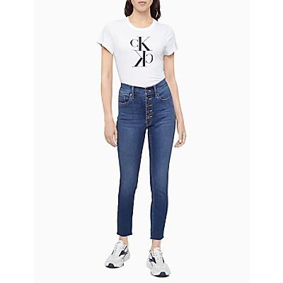 Mirror Monogram Logo Crewneck T-Shirt | Calvin KleinCalvin KleinCloseCalvin KleinShow Password