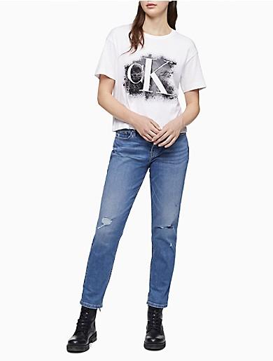 Image of CK Stencil Logo Boyfriend T-Shirt