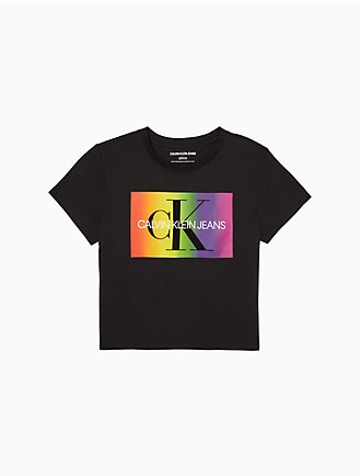 b6e99af1a03ab The Pride Edit Monogram Logo Cropped T-Shirt