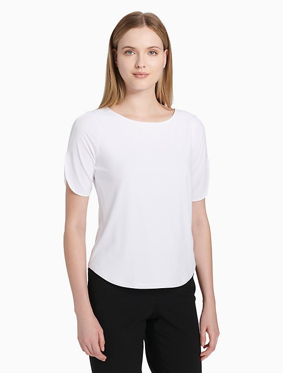 596043efbd Price as marked solid knit short sleeve top
