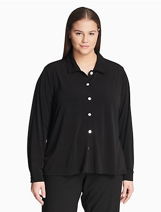 8ca9a9667b6bdd plus size button down long sleeve top