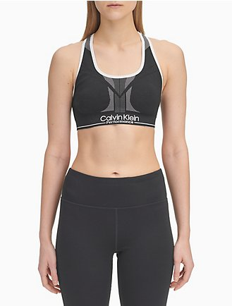 7d66b9aaecd74e Performance Logo Medium Impact Sports Bra