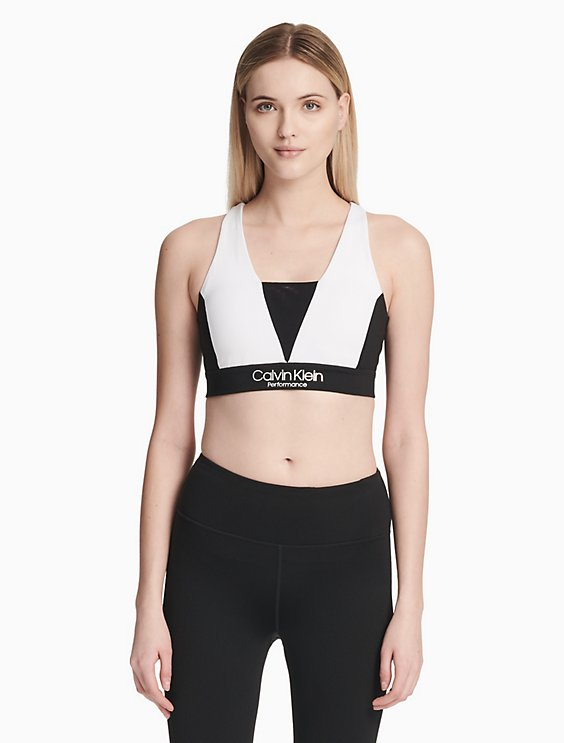 66e5aad54a performance colorblock v-neck sports bra