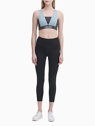 performance colorblock v-neck sports bra