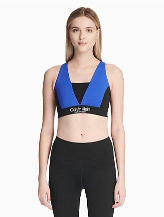 0a3905c78bfa8 performance colorblock v-neck sports bra