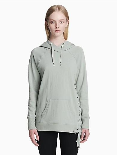 c36ab89265 performance lace-up drawstring hoodie