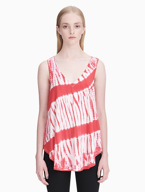 723f599d68fd4 Price as marked performance tie-dye v-neck racerback tank top