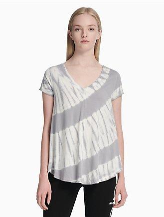 c4443e0daefa7 performance tie-dye v-neck t-shirt