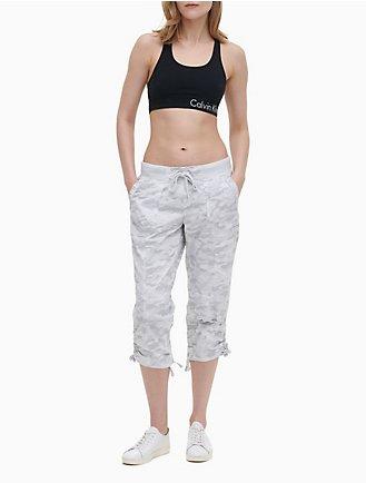 b823c946fbebb Performance Cotton Drawstring Capri Pants