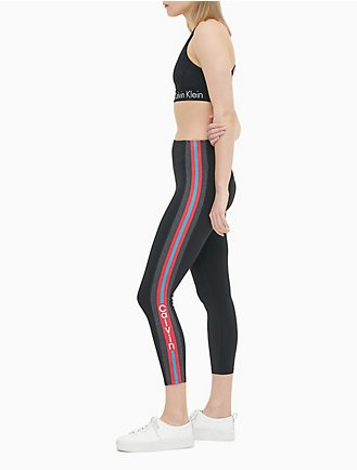 1f3acbb1cc Performance High Rise Striped Logo 7/8 Leggings