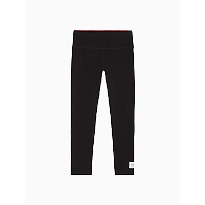 Performance Logo Patch High Waist Full Length Leggings