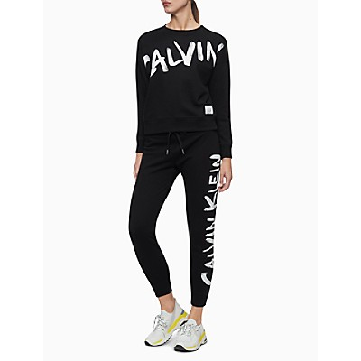 Performance Brush Logo High Waist Drawstring Joggers