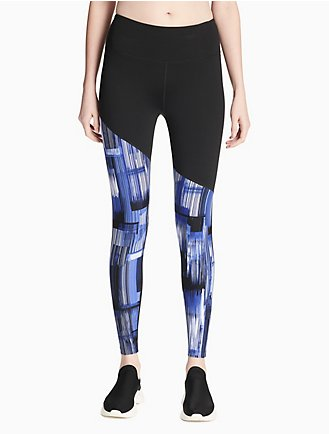 cadf4fa17de2a0 performance printed high waist mesh leggings