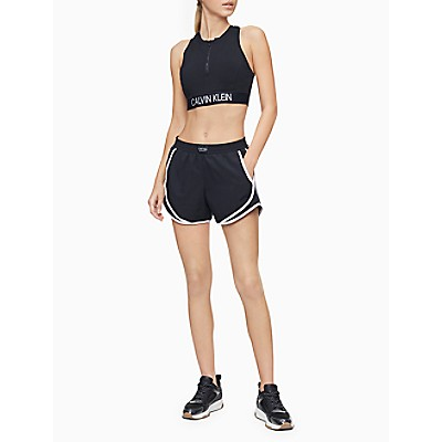 Performance Logo Patch Piped Mesh Shorts
