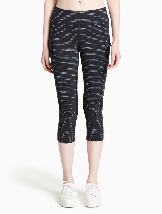 Calvin Klein Collection Mid-Rise Cropped Leggings