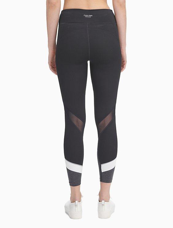 fe026f4fe3b1e5 performance colorblock high waist mesh leggings | Calvin Klein