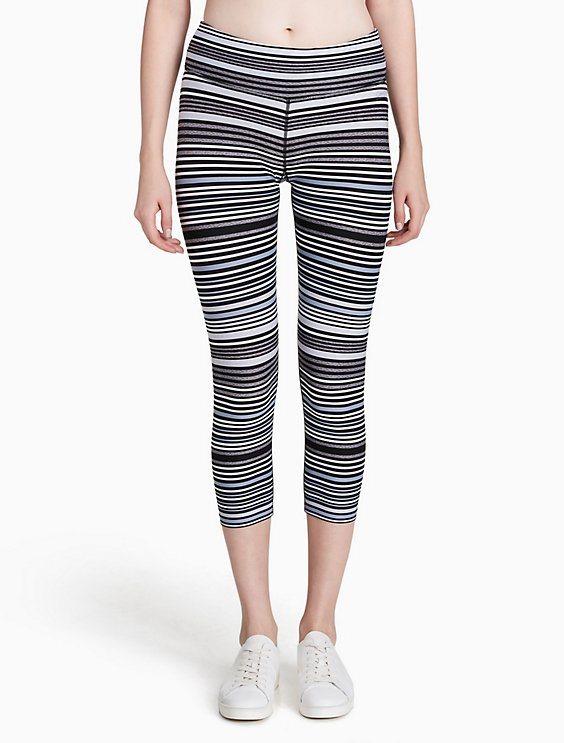 0a76aa35e7d1b performance striped cropped leggings | Calvin Klein