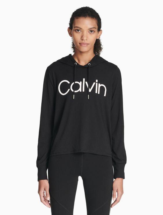 Performance Logo Drawstring Hoodie by Calvin Klein