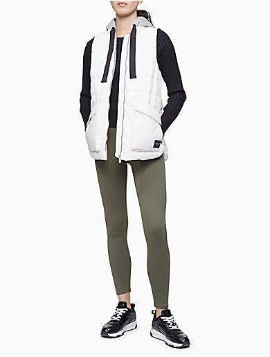 Image of Performance Fleece Hood Quilted Vest