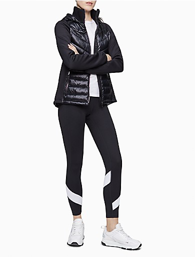 Image of Performance Scuba Sleeve Hooded Quilted Jacket