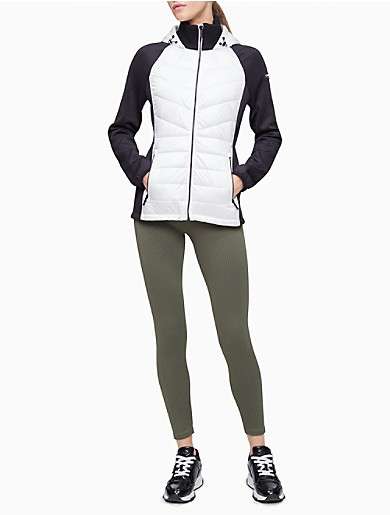 Image of Performance Colorblock Quilted Jacket