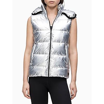 Performance Shine Padded Full Zip Hooded Vest