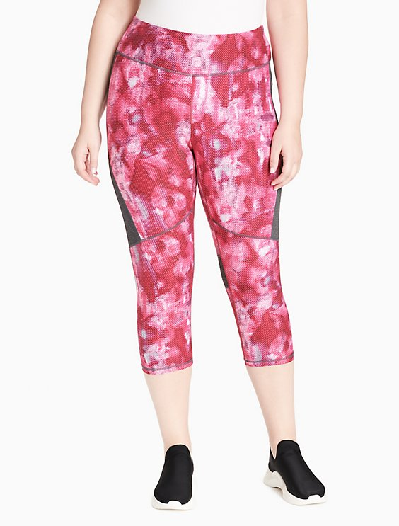 8ea6732872 Price as marked plus size performance printed high waist cropped leggings