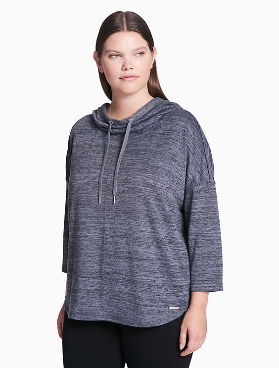 4a9b51c4f9b Final Sale plus size performance cowl neck pullover hoodie