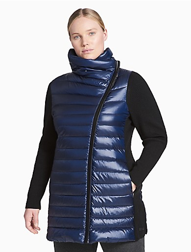 2de7dba2bdf calvin klein performance down asymmetrical puffer jacket