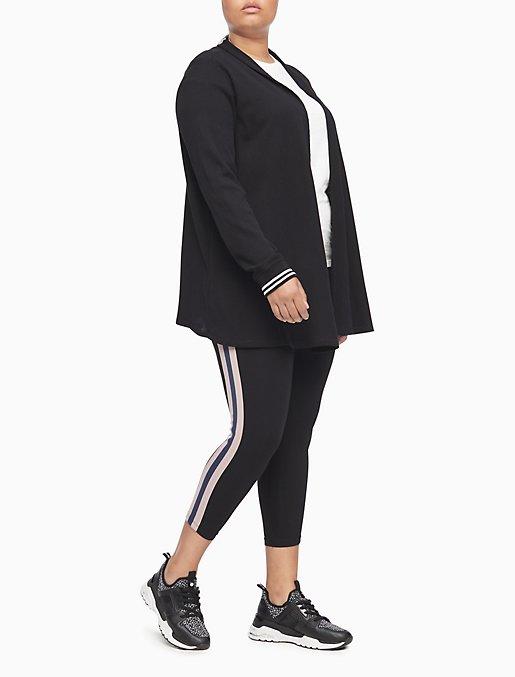 Plus Size Performance Wide Stripe High Waist Leggings | Calvin Klein