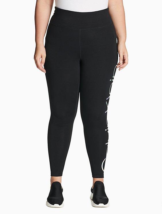 88d946939b80a5 plus size performance logo high waist leggings | Calvin Klein