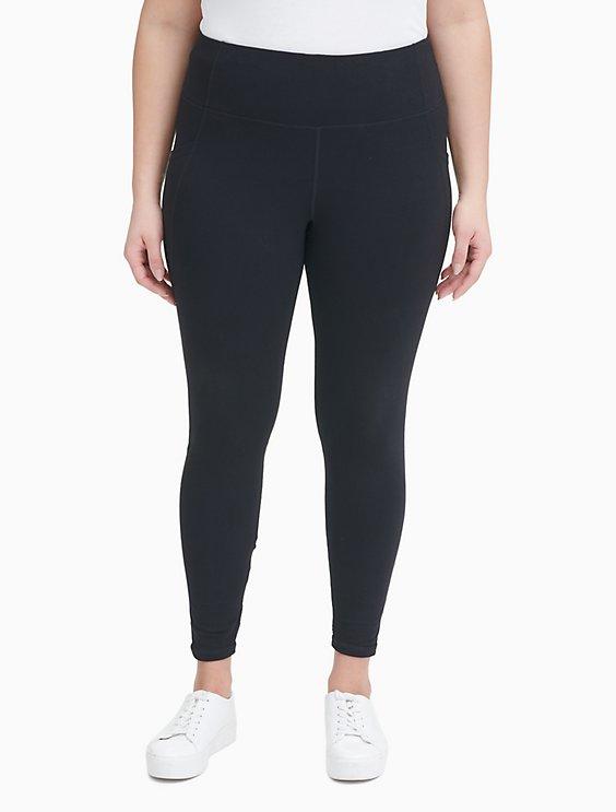 76613d9126eab4 Plus Size Performance Pocket High Waist Lattice Leggings | Calvin Klein