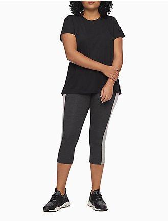 e8dbe7d07ab plus size performance striped cropped leggings