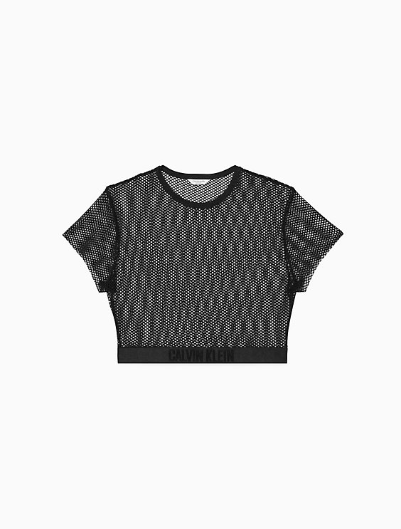 6c4b5a0ff87 Intense Power Mesh Cover-Up Cropped Top | Calvin Klein