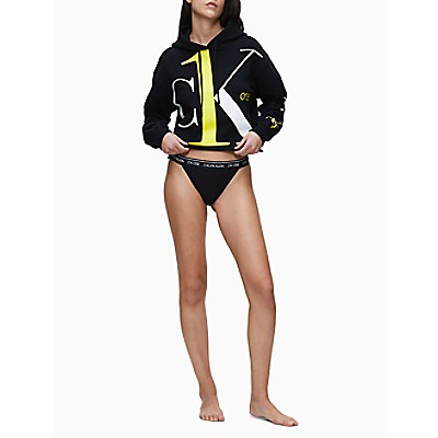 CK ONE Oversized Logo Cropped Hoodie