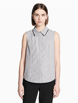 0095c83f979d3 striped sleeveless piped shirt