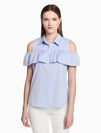 4fc59fe3 Sale | Women's Sale | Shirts + Blouses | Calvin Klein