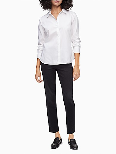 Image of Slim Fit Solid Button-Down Shirt
