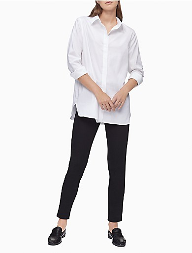 Image of Solid Roll-Up Sleeve Shirt