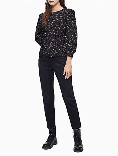 Image of Lurex Slub 3/4 Sleeve Sweater