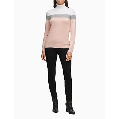 Colorblock Yoke Turtleneck Sweater